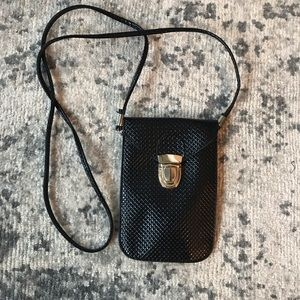 Crossbody patent leather phone pouch bag